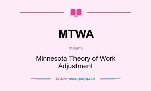 Minnesota Theory of Work Adjustment (MTWA)