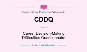 Career Decision-Making Difficulties Questionnaire