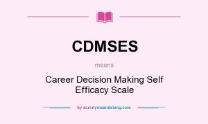 Career Decision Self-Efficacy Scale